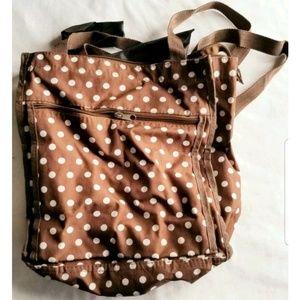 Brown White Spots Tote Bag